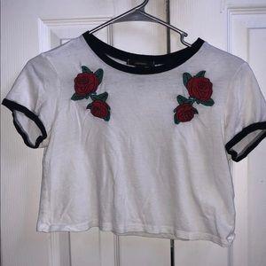 Forever 21 roses shirt
